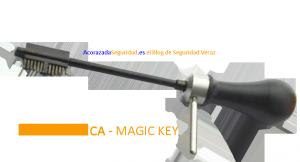 La llave utilizada por los delincuentes...